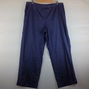 Anne Klein Dress Pants Women 20W Blue Pinstripe
